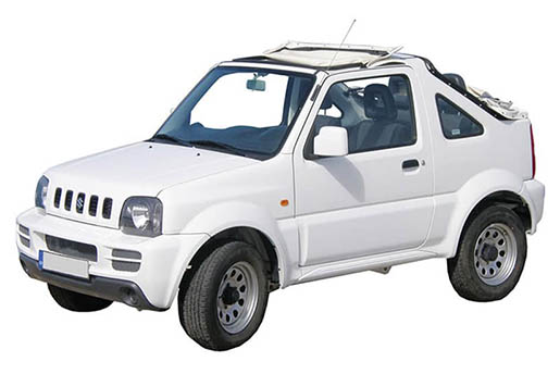 Suzuki Jimny open top | Horeftakis tours | Rent a car |